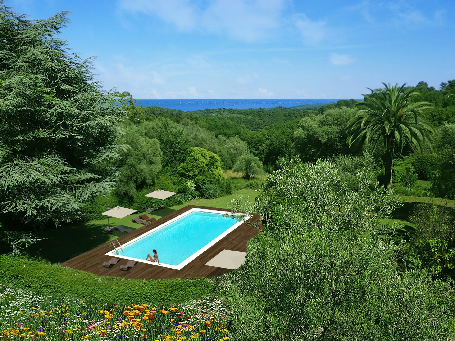 SOLE AGENT – ROQUEFORT-LES-PINS - SPACIOUS 2 or 3 BEDROOM APARTMENT WITH TWO TERRACES AND POOL