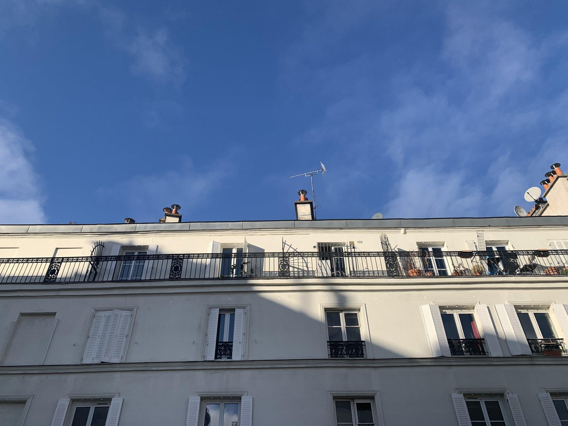 Paris - XVIII ème - GOUTTE D'OR - M° Château Rouge / Barbès Rochechouart - 2 PIÈCES MEUBLÉ - TRAVERSANT - PIERRES ET POUTRES APPARENTES - REFAIT À NEUF PAR ARCHITECTE.