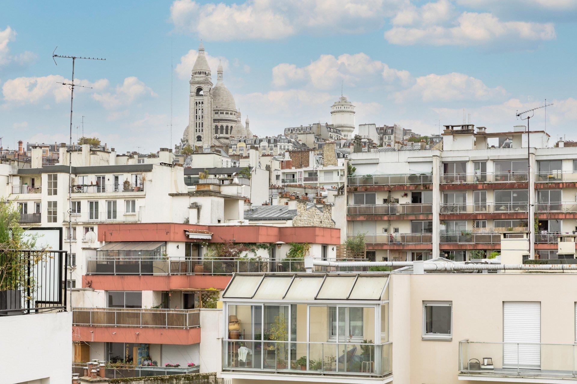 4 pièces Terrasse - Vue Sacré-Coeur - Lamarck Caulaincourt