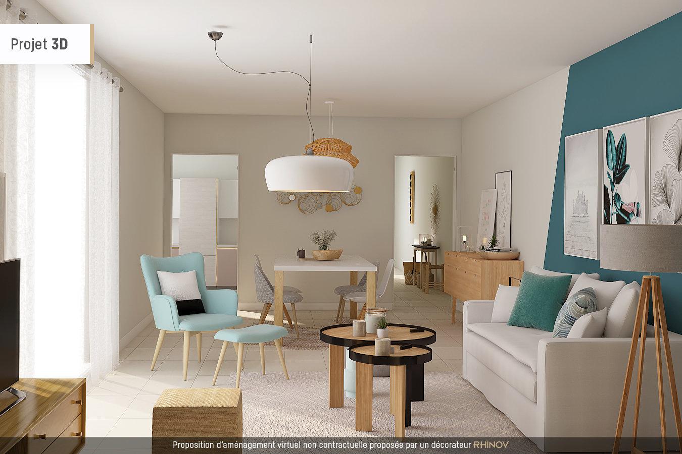 Appartement Rez-de-Jardin 62.42m²