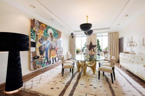 Dining room, natural light, wood floors