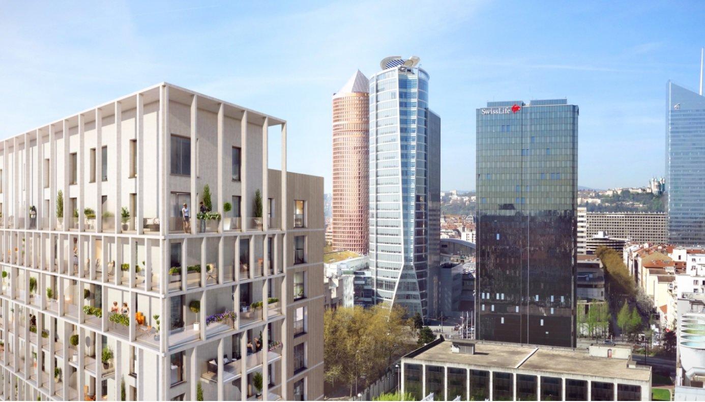 LYON 3ème, rue de la Villette, Appartement T4 de 84,4 m² avec terrasse et garage
