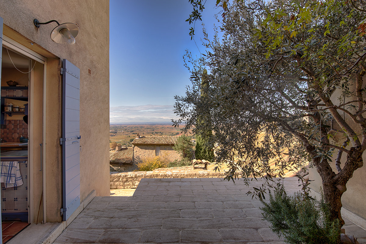Maison de village avec vue à180°