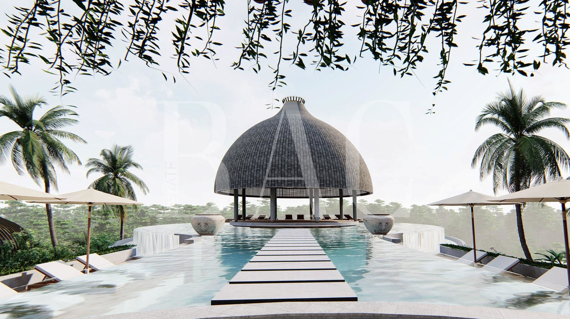 豪华别墅,位于巴厘岛丛林中心。