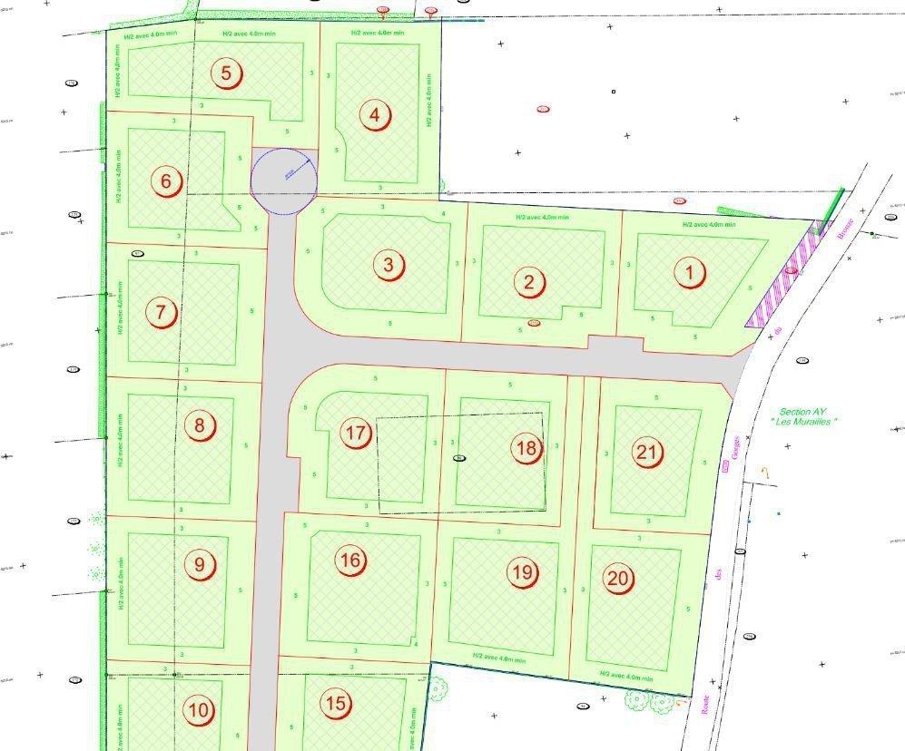 Terrain 696 m² plat et viabilisé