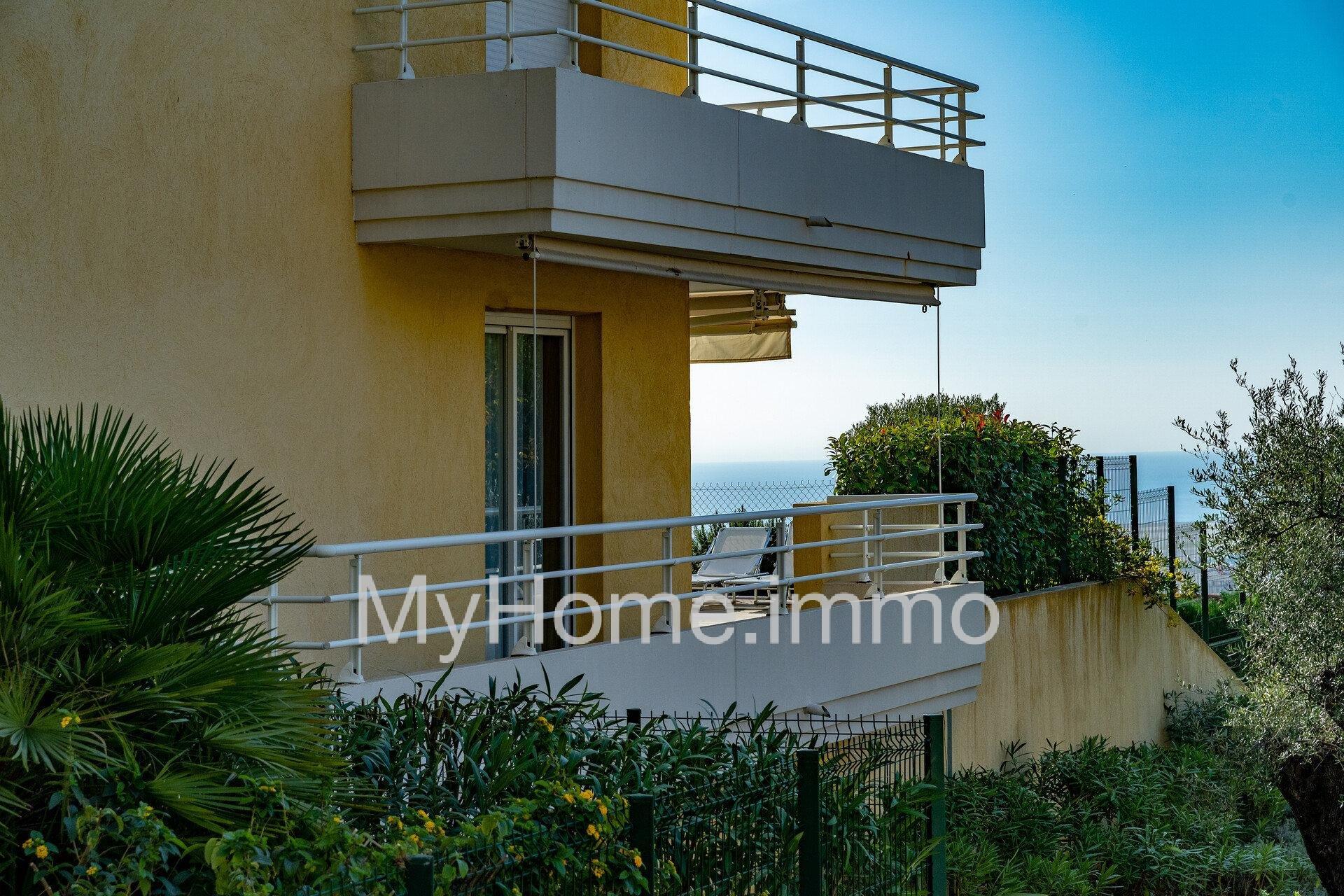 NICE OUEST-LANTERNE - 3 pièces de  74m²  avec terrasse et vue mer sur le Cap d'Antibes.