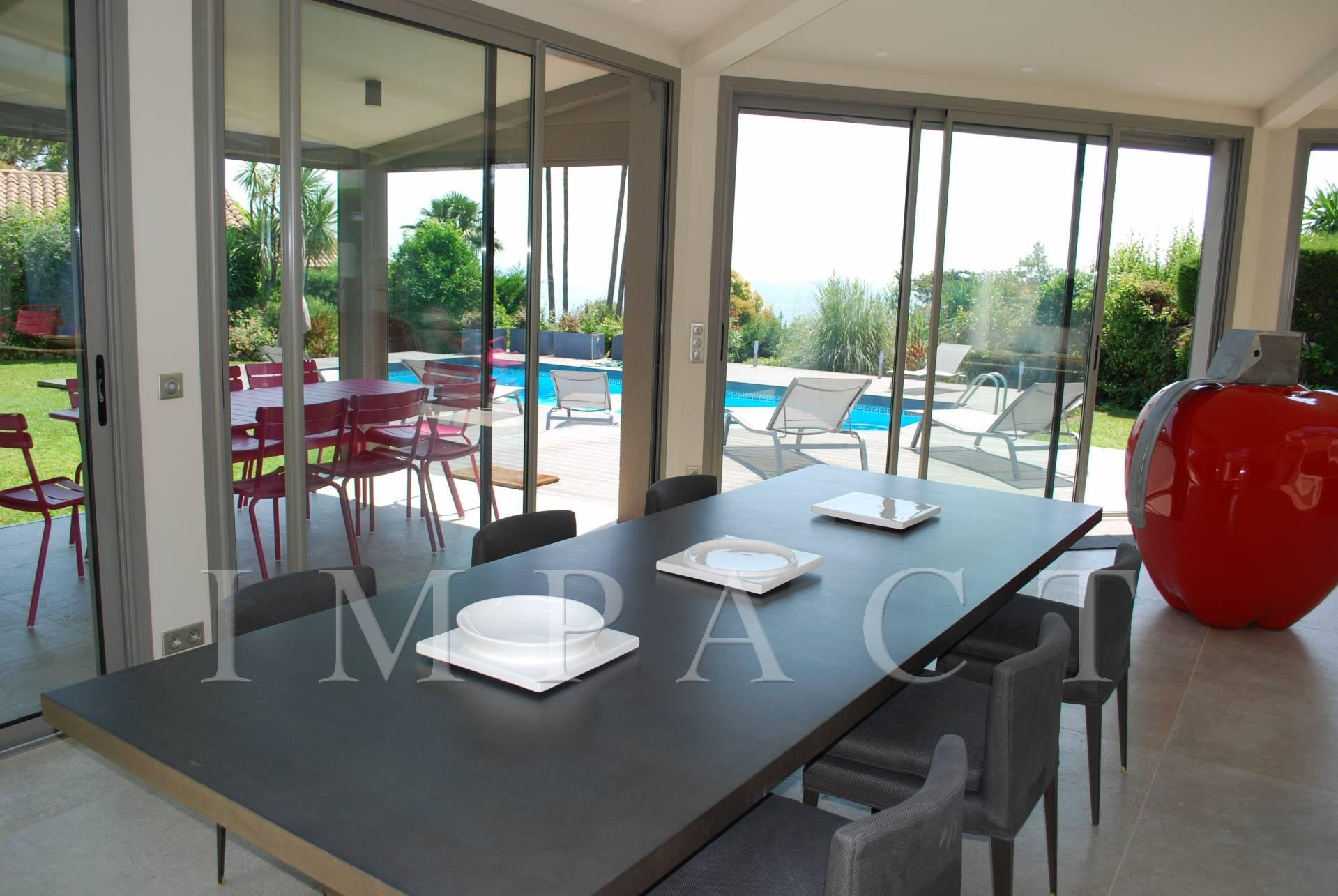 Villa renovated sea view to rent Cannes Californie