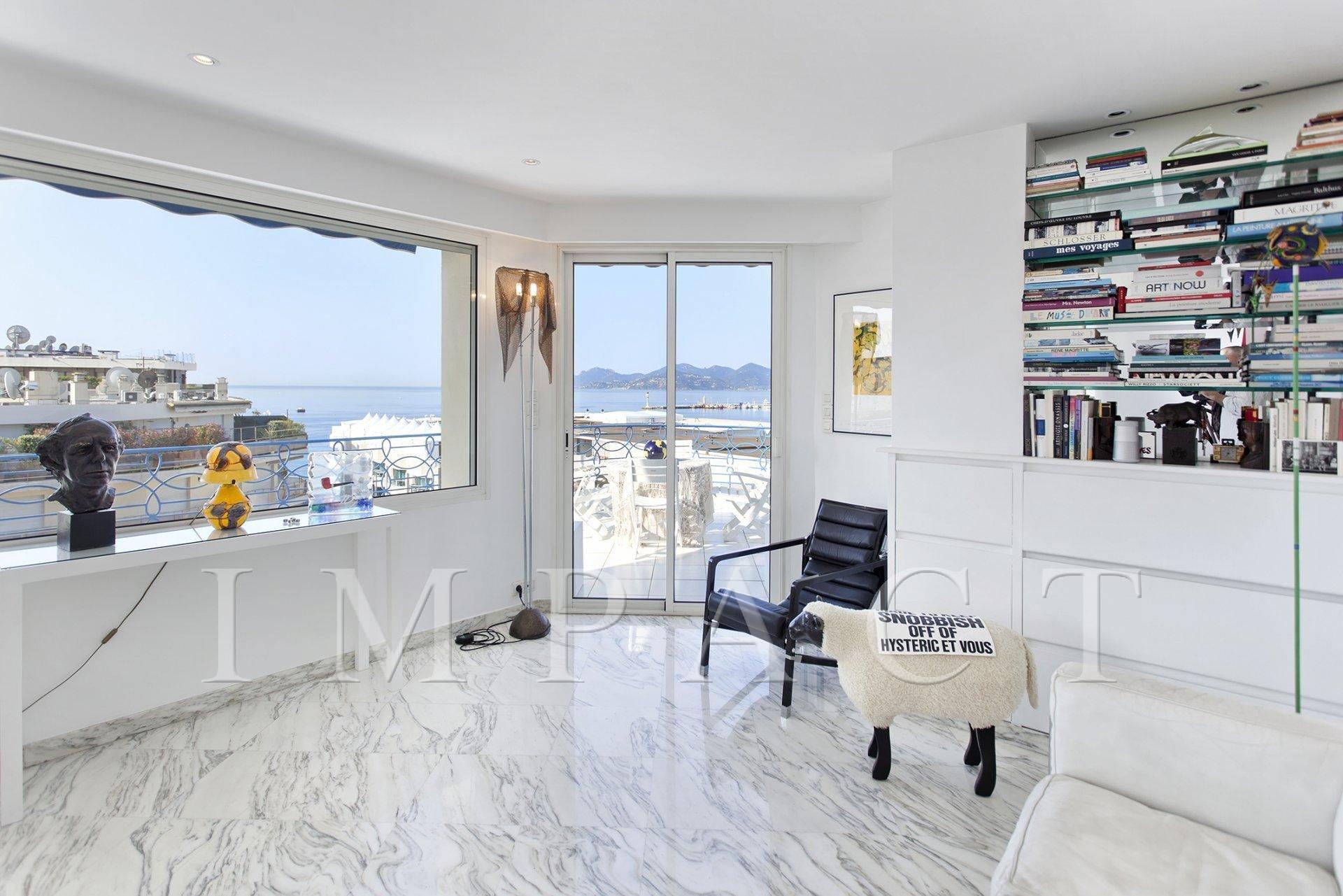 Bel appartement à louer vue mer, centre de Cannes