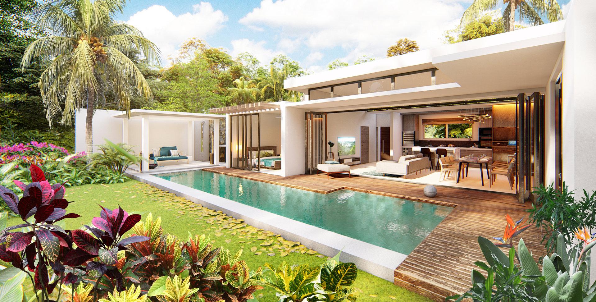 Contemporary villa near the Daruty forest