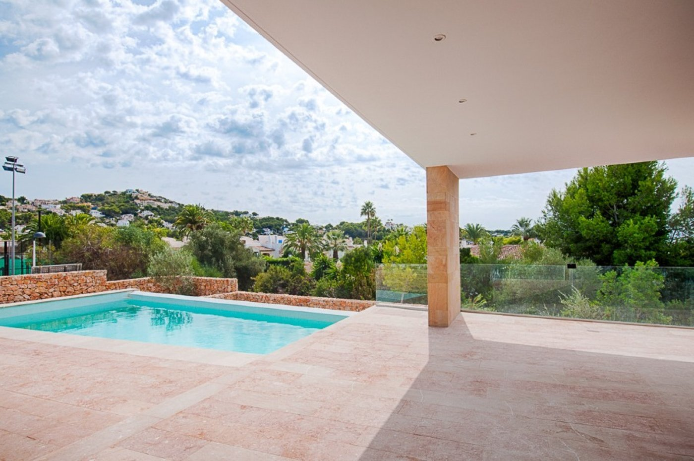 Modern villa currently under construction in Moraira
