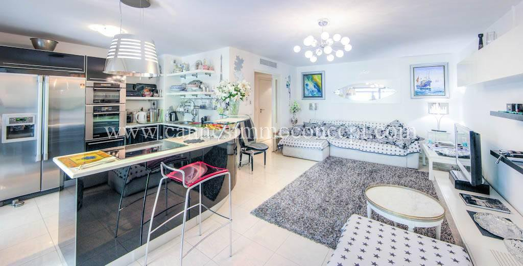 Basse Californie, near Croisette, three-rooms apartment with terrace and garage