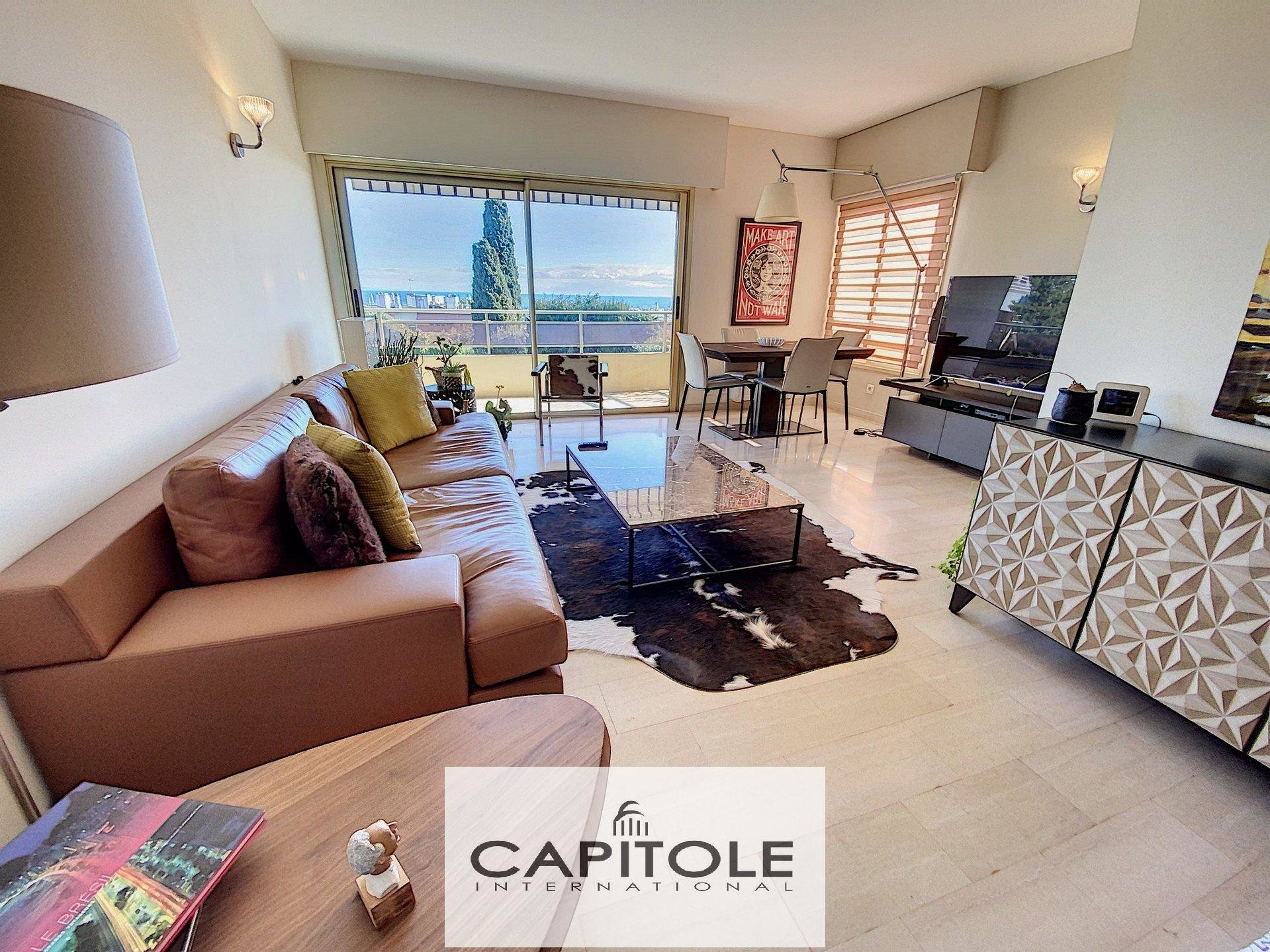 For sale, Antibes, sea view 2 bedroom apartment, terrace, garage, parking space, cellar