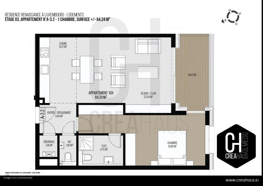 Vente Appartement - Luxembourg - Luxembourg