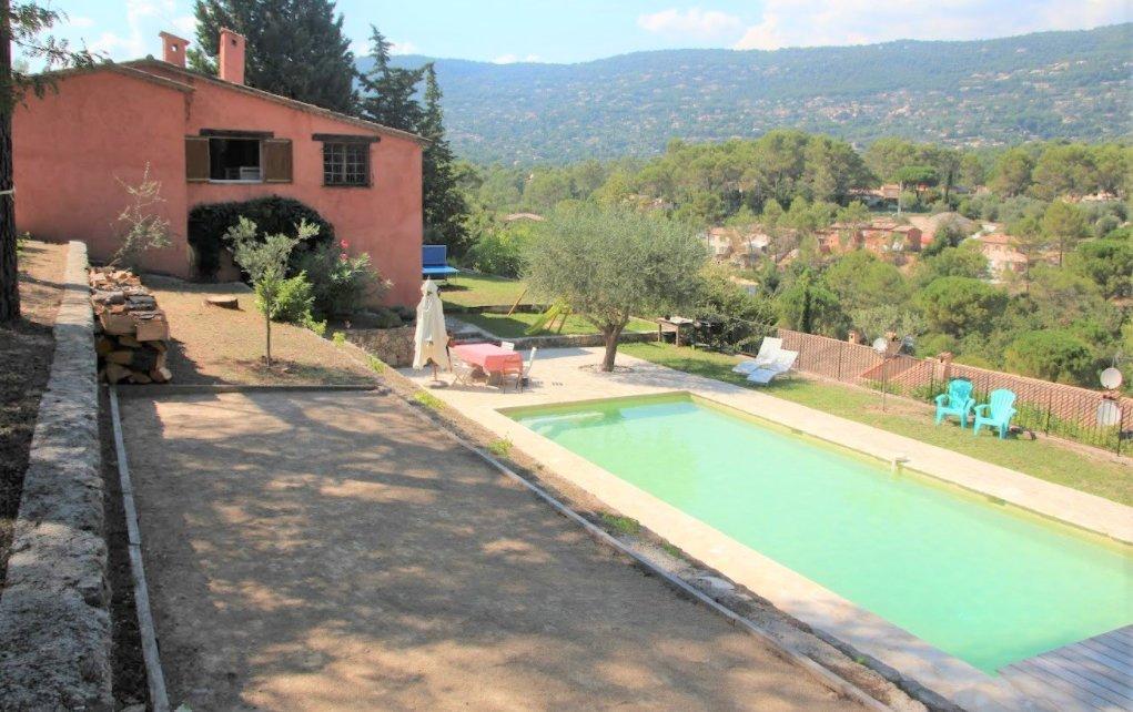 Exclusivité-Vente villa 5P, vue panoramique, calme absolu, Peymeinade