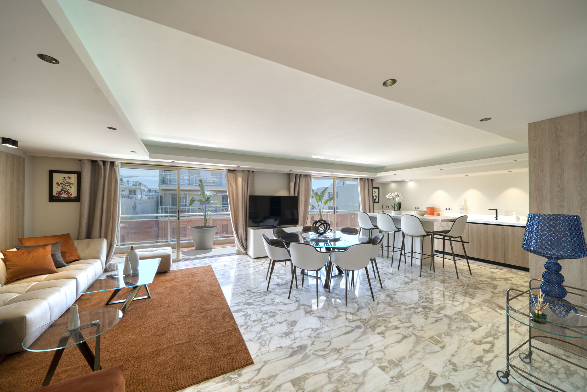 Rare : Cannes Palm Beach 3-BR apartment Rooftop and Private Pool