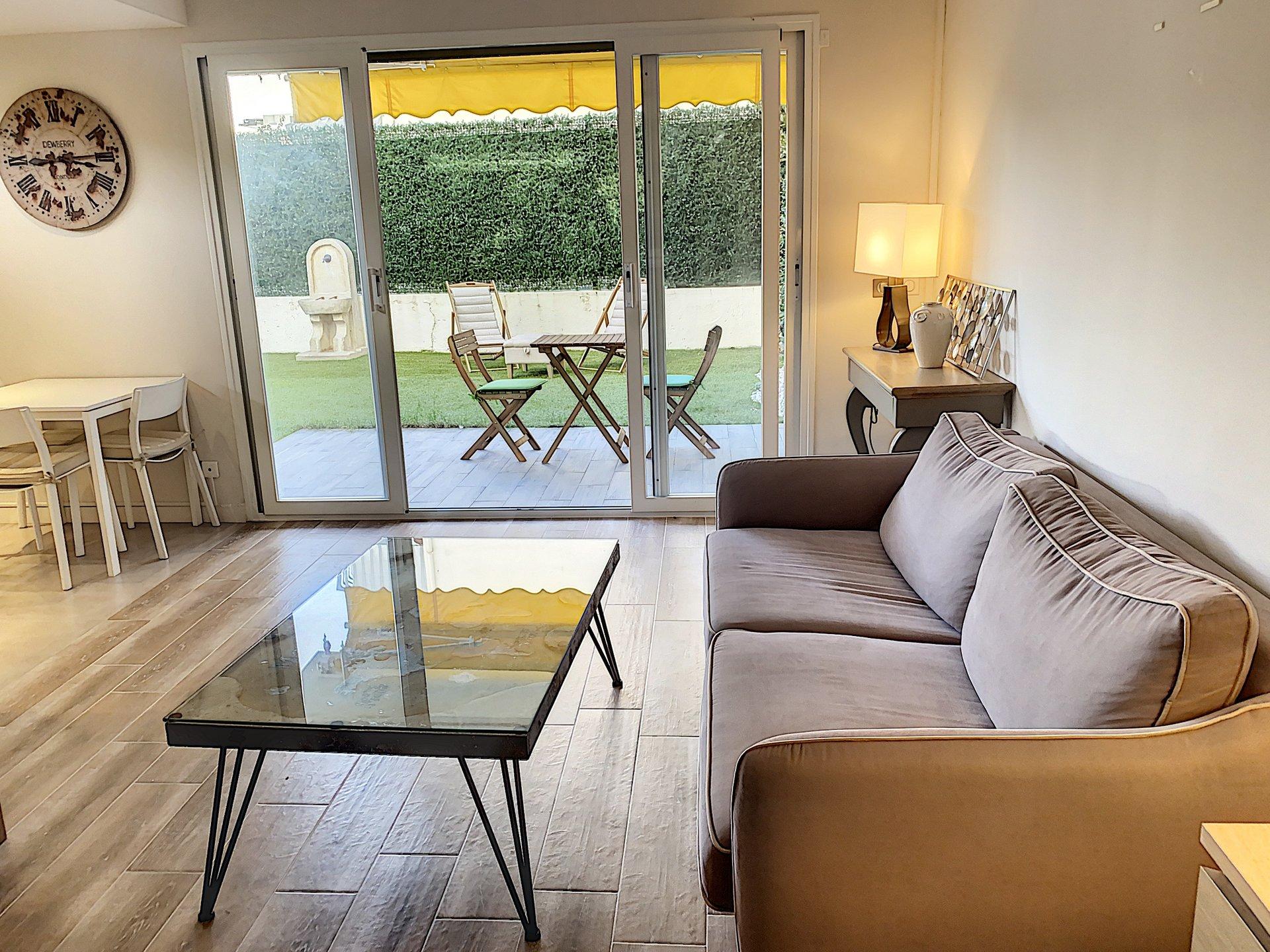 Cannes Palm Beach 2p 41 m2 garden 100 m2
