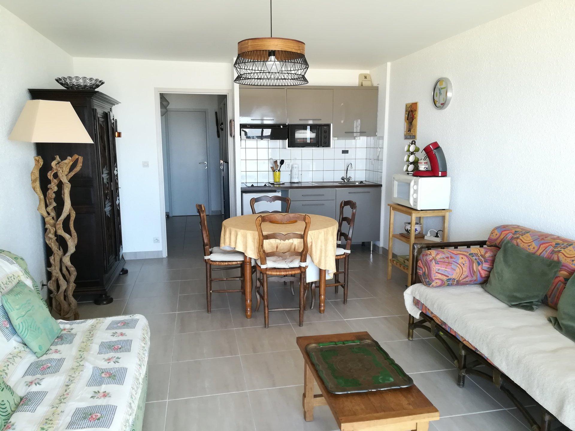 Appartement face mer avec balcon