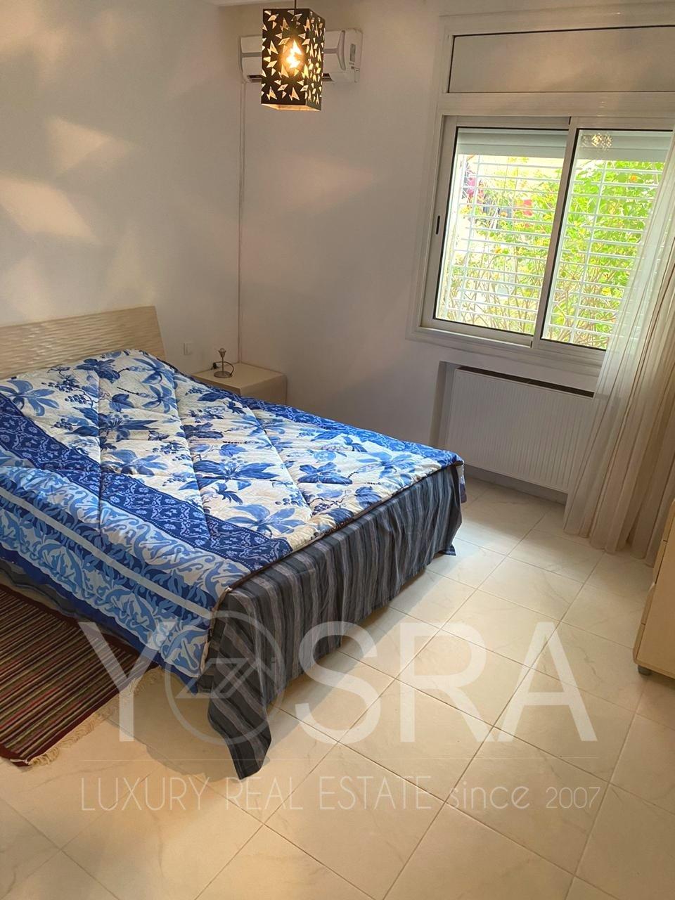 appartement  S+2 meublé avec jardin front lac