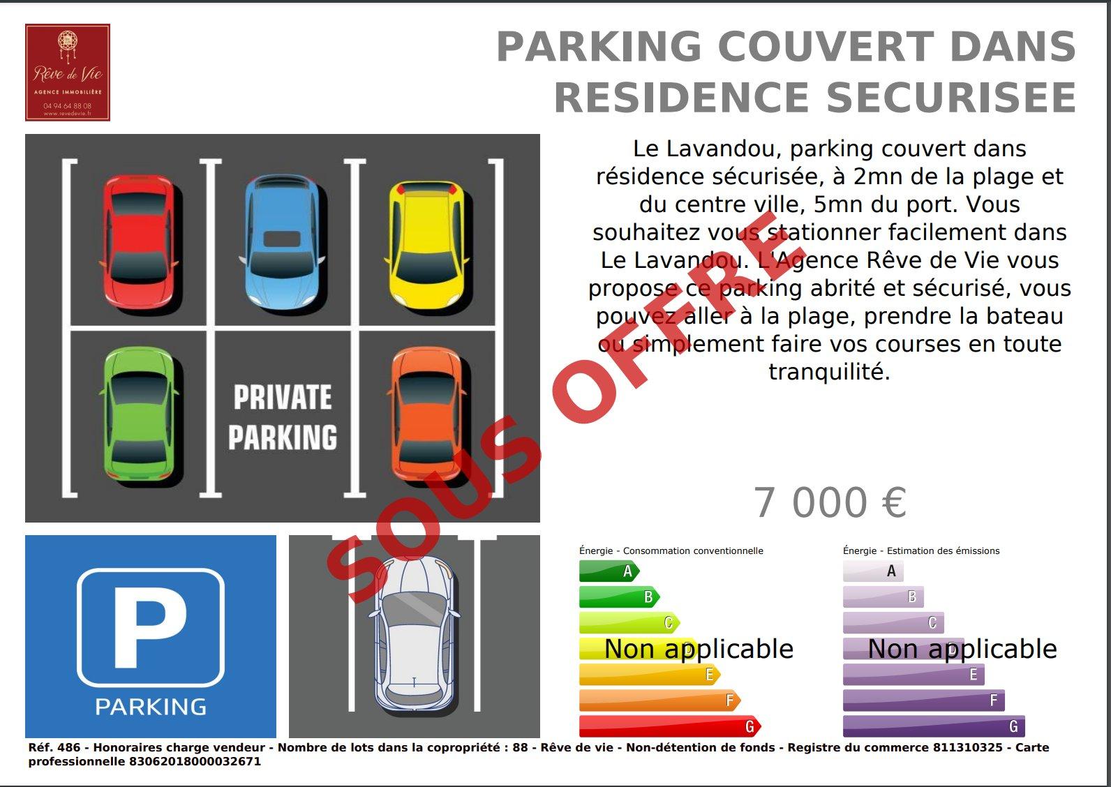 Vente Parking Le Lavandou