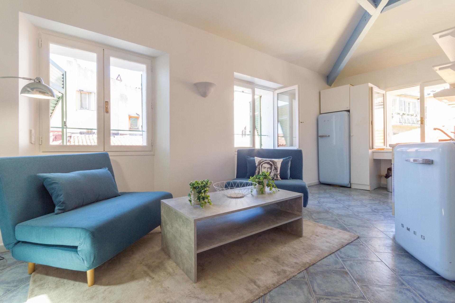 Villefranche-sur-mer  - VIEILLE VILLE - 2 pièces meublé