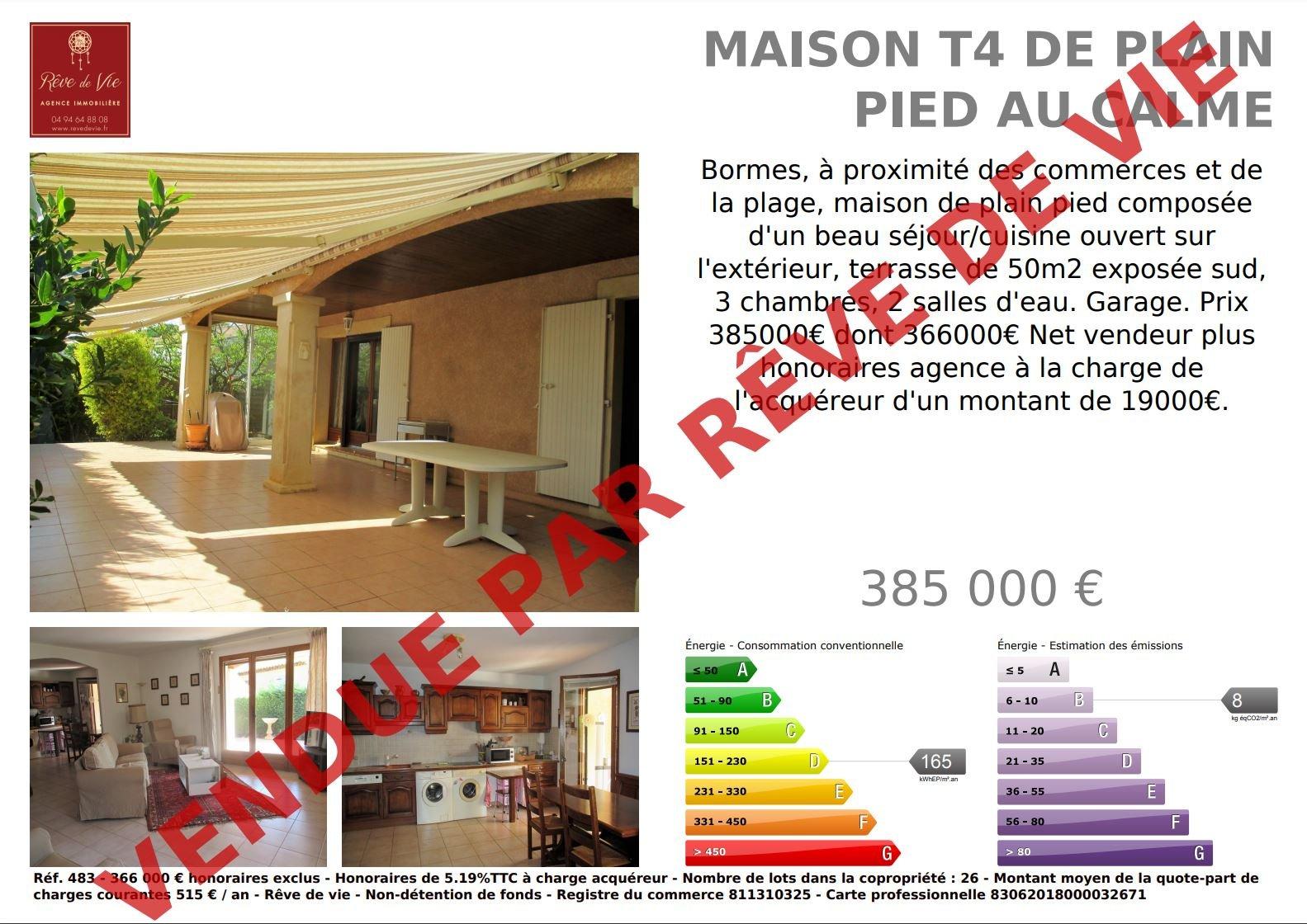 Vente Maison Bormes-les-Mimosas