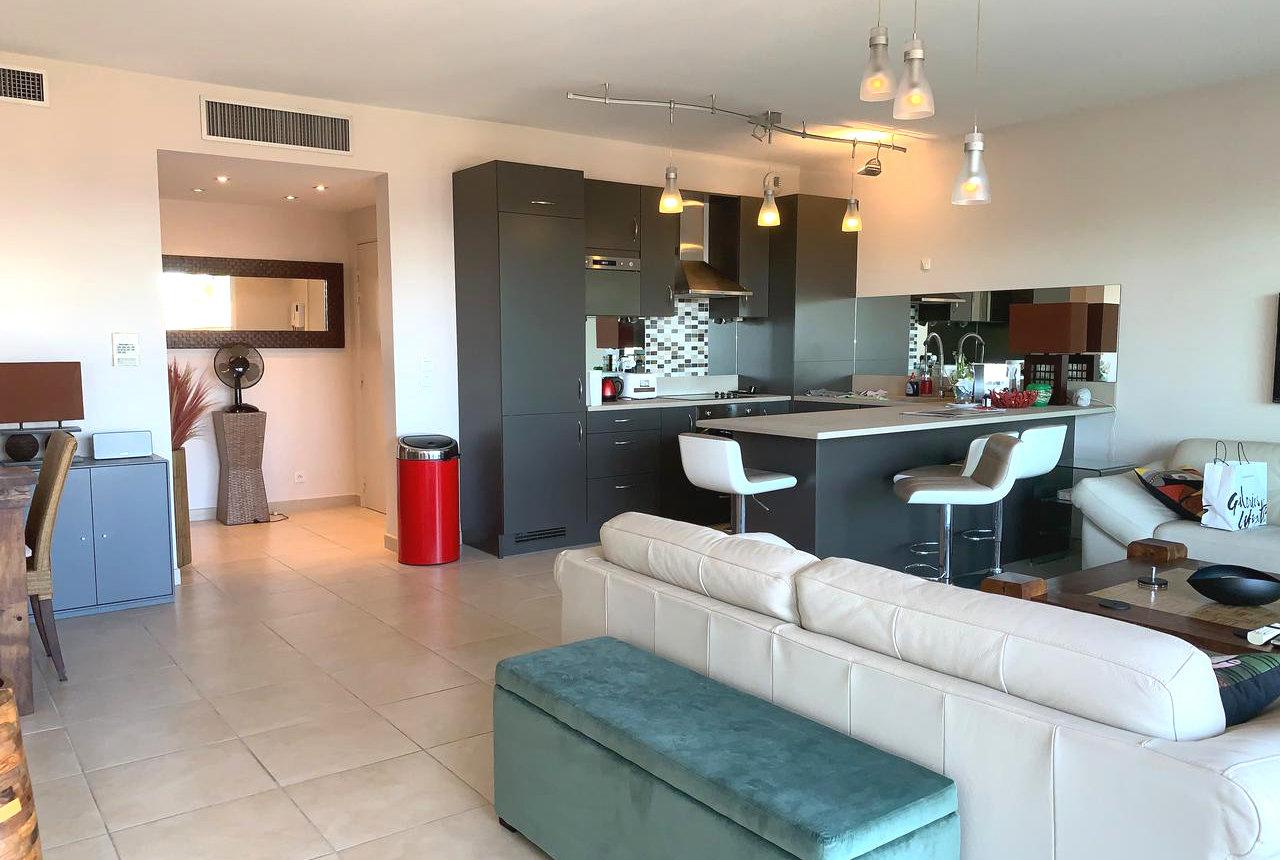 3-rumslägenhet med terrasser och havsutsikt - Cannes Palm Beach