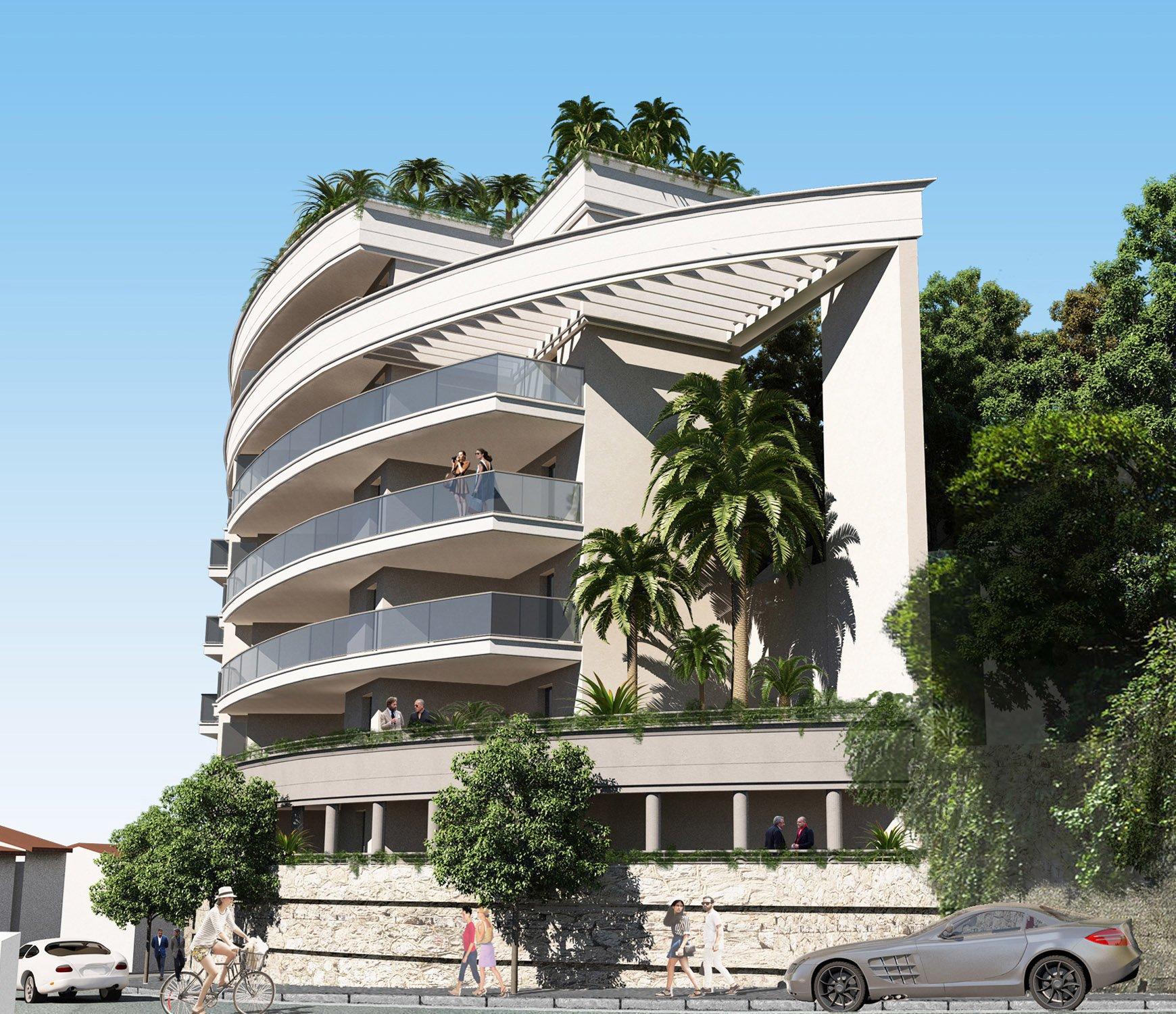 BEAUSOLEIL - Région PACA - Vente Appartement neuf de luxe - Large terrasse - Vue mer