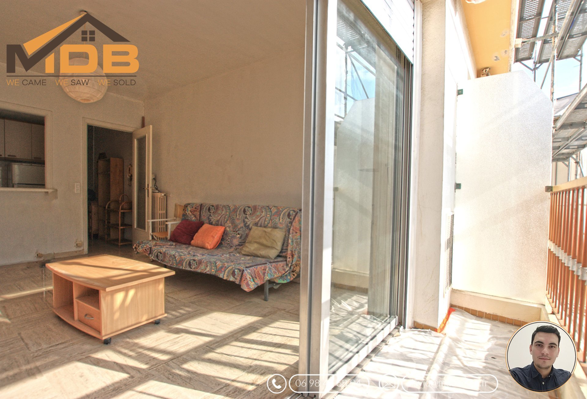 Nice - Investissement locatif - F1 - 3eme étage