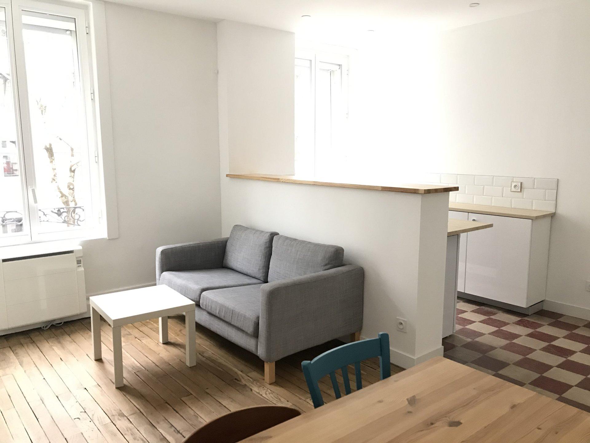 Location Appartement Surface de 36 m²/ Total carrez : 36 m², 2 pièces, Lyon 3ème (69003)