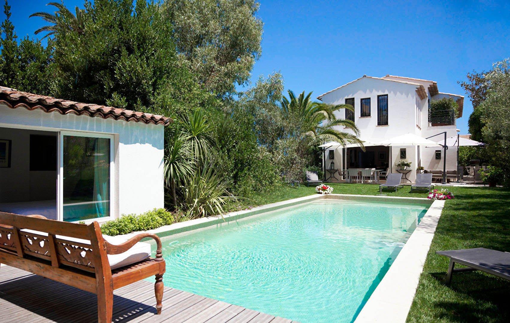SAINT TROPEZ Village , Villa rénovée avec jardin et piscine