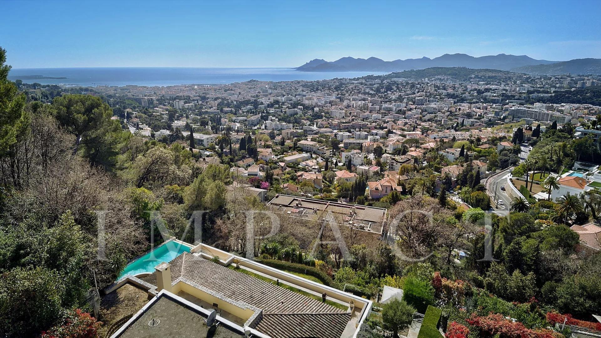 villa vue mer panoramique Cannes