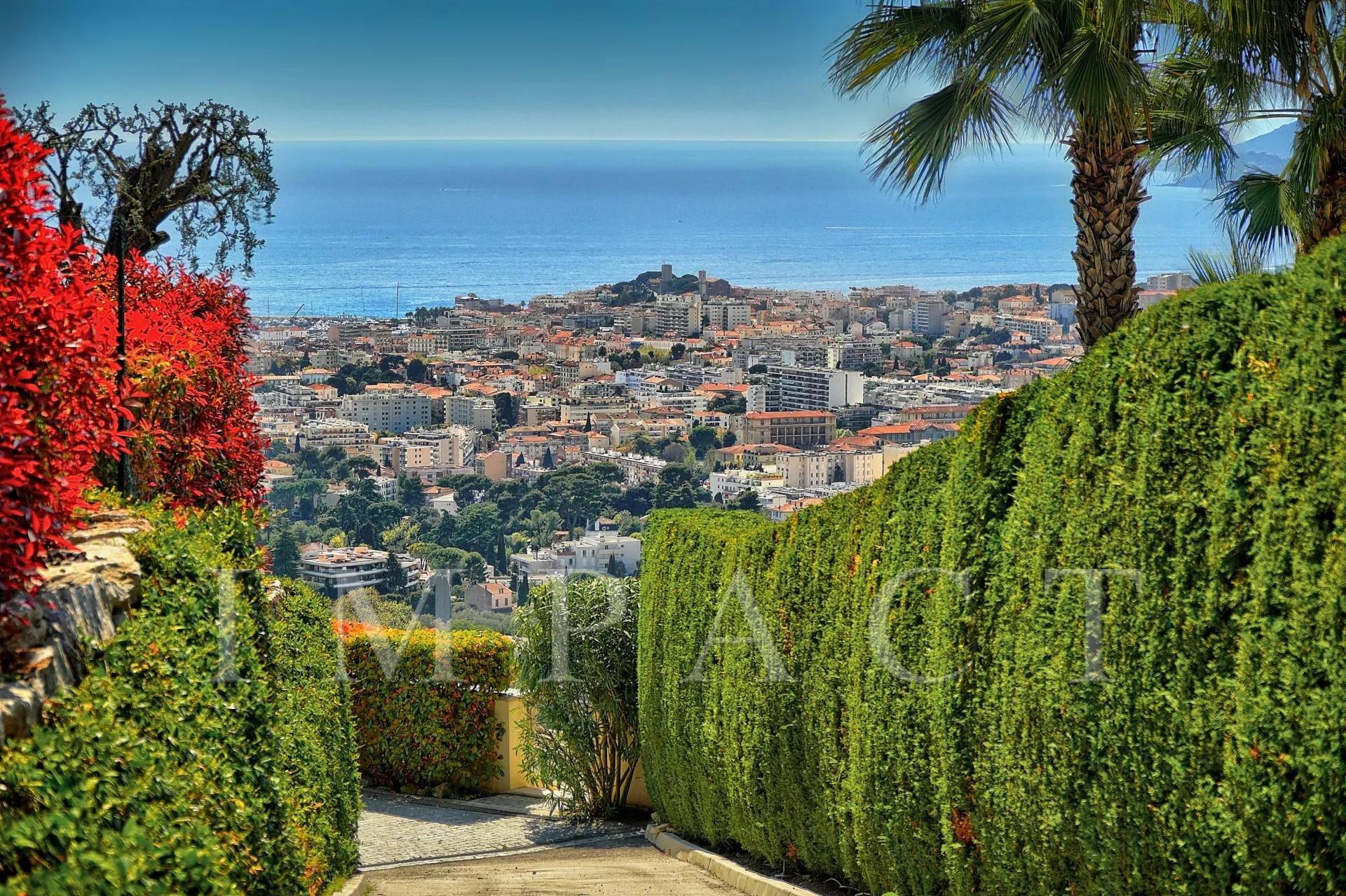 villa vue mer Cannes