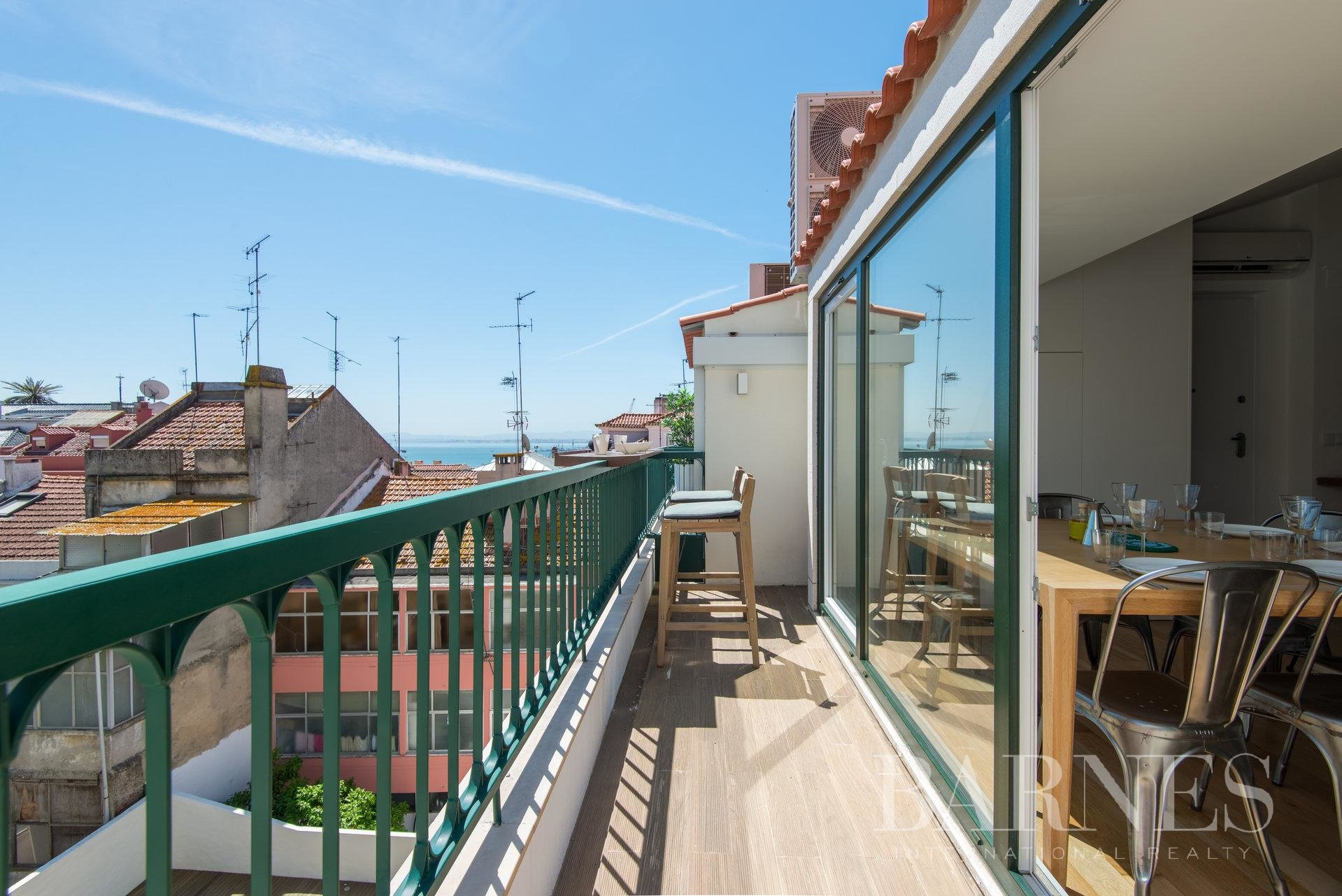 Apartment in Lapa with terrace and river view