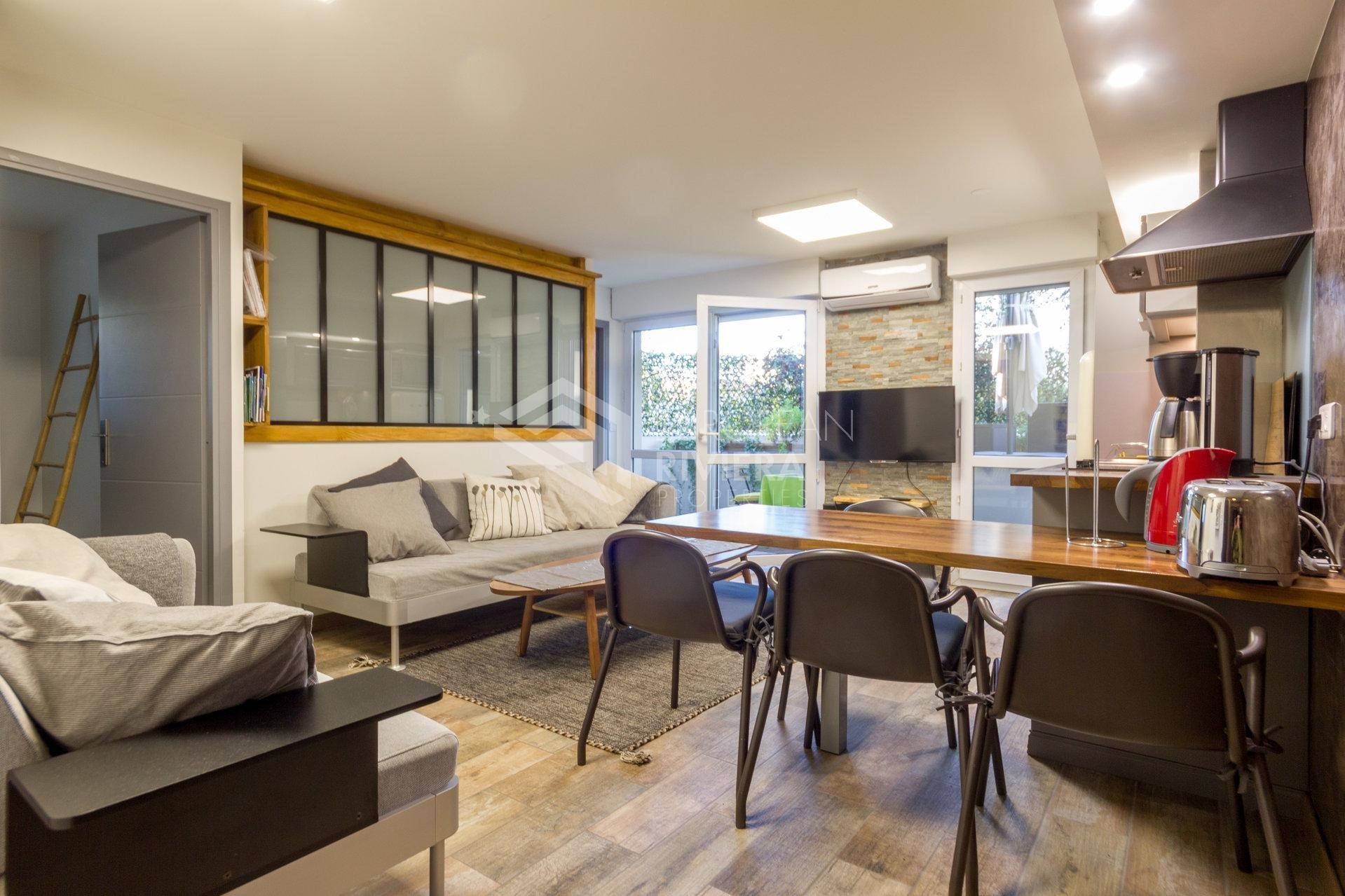 NICE - MAGNAN - Appartement trois pièces meublé avec terrasse