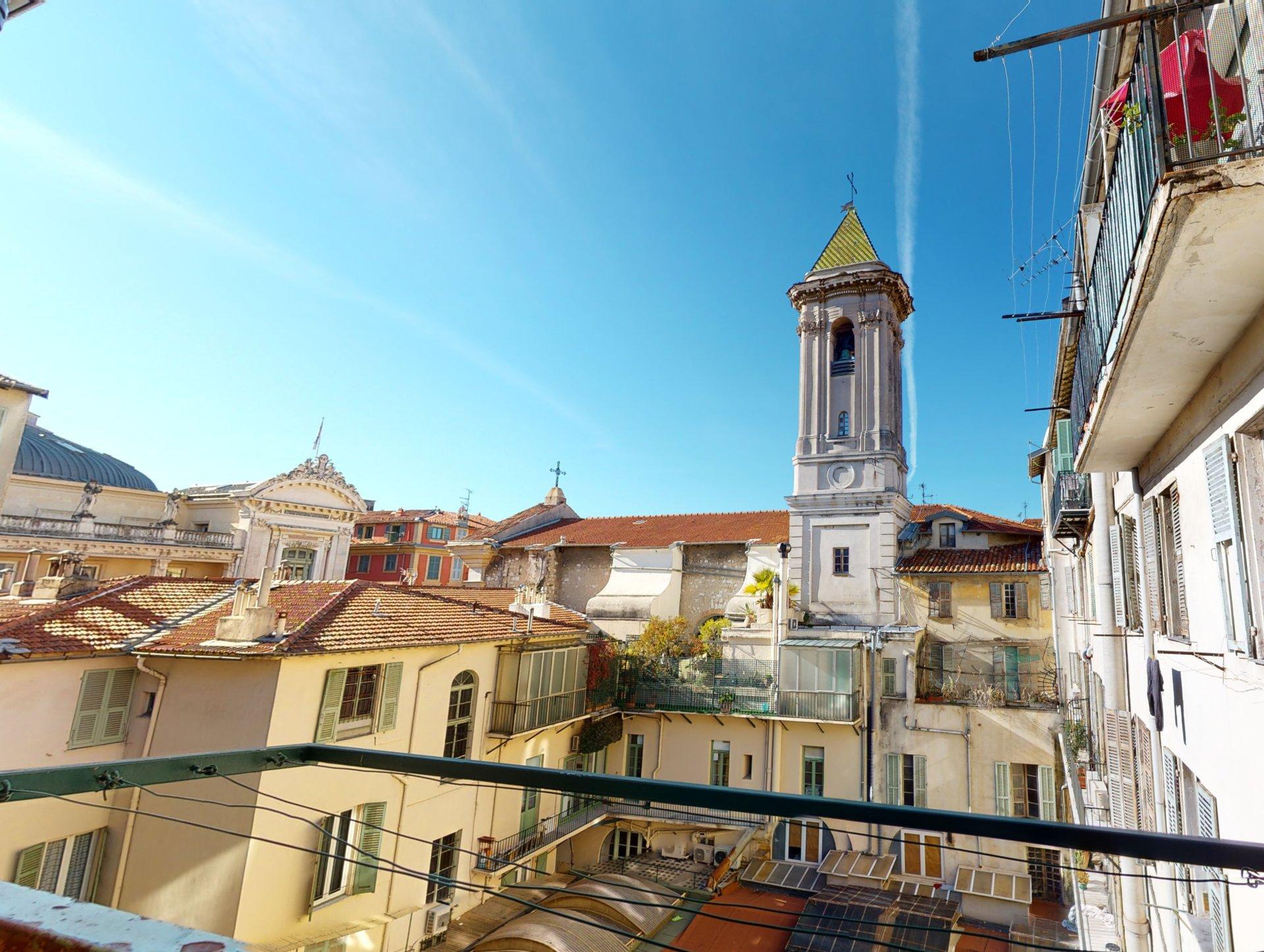 Vieux Nice 3p vue dégagée