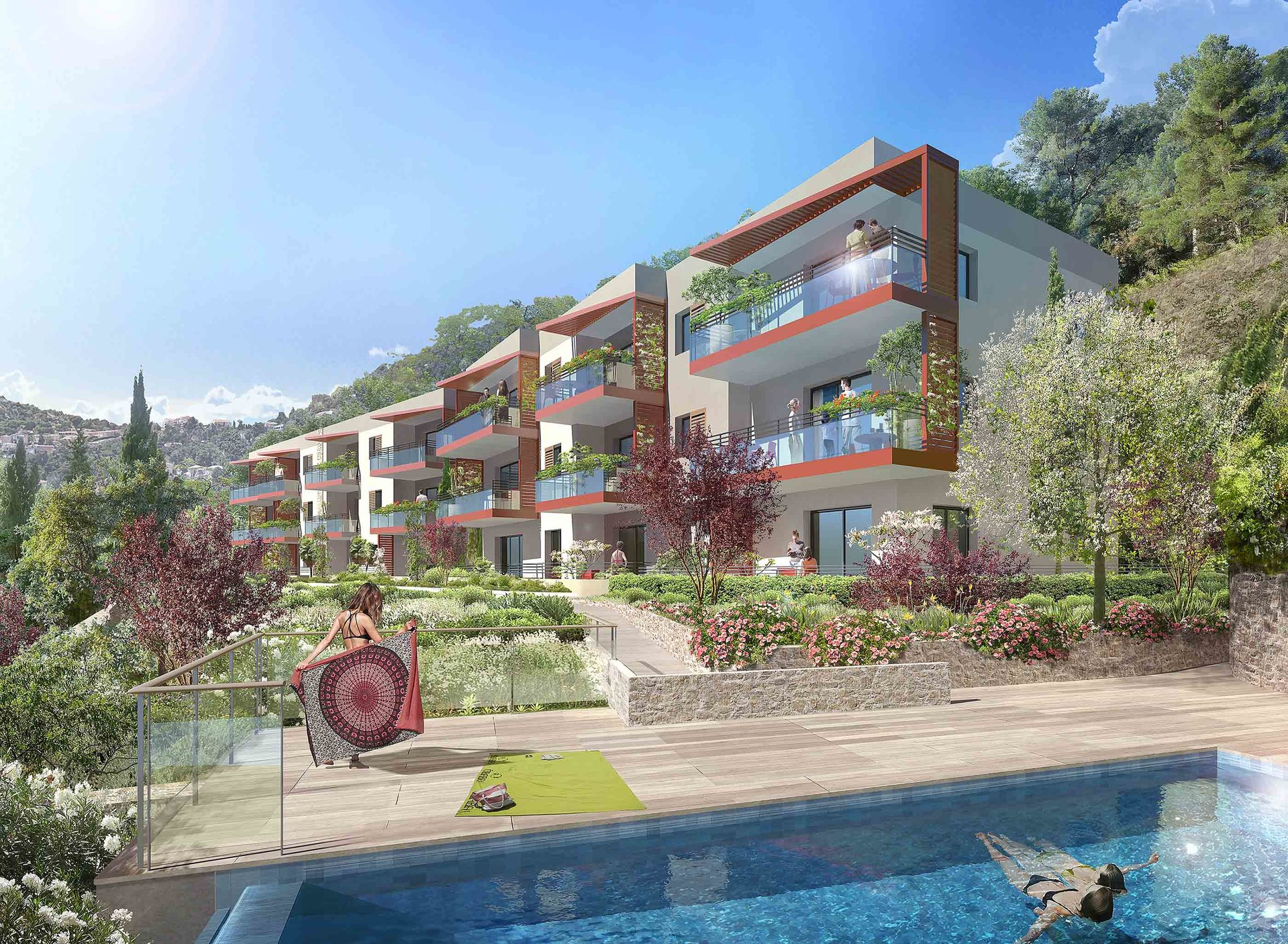 Magnifique T4 avec deux terrasses et 2 garages - Èze