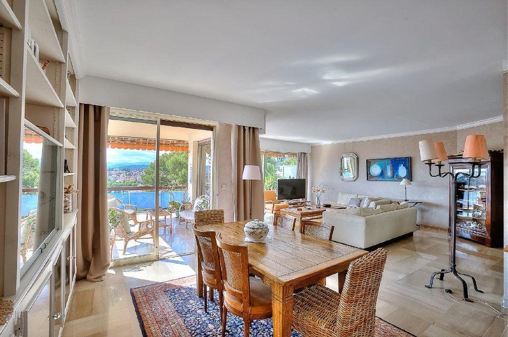 A vendre Le Cannet Résidentiel Vue mer maginifique 3/4 pièces de 110 m² + Terrasse d'angle  53 m²