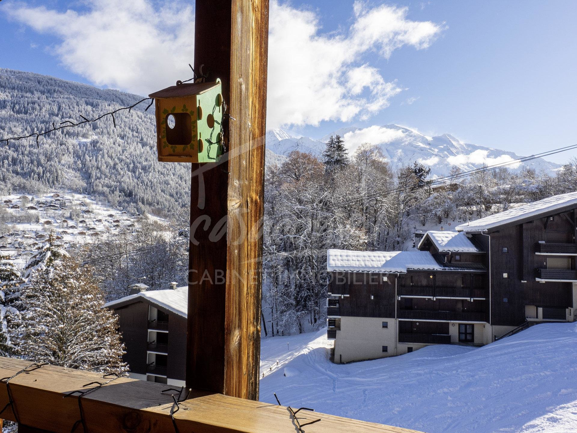 St Gervais - Vue et skis aux pieds pour ce beau T3!