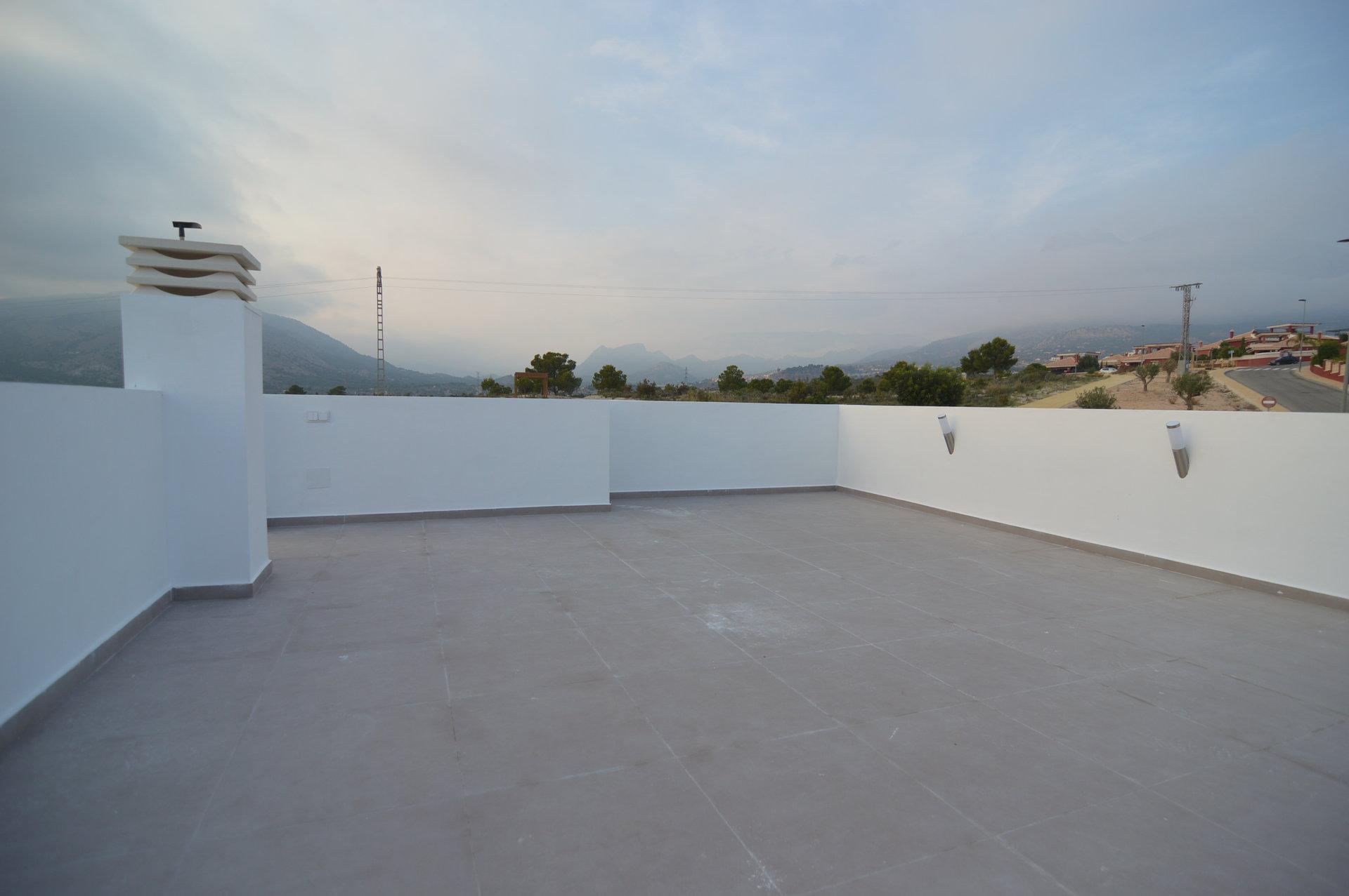 Villa neuve de 4 chambres avec vue sur la mer à Finestrat