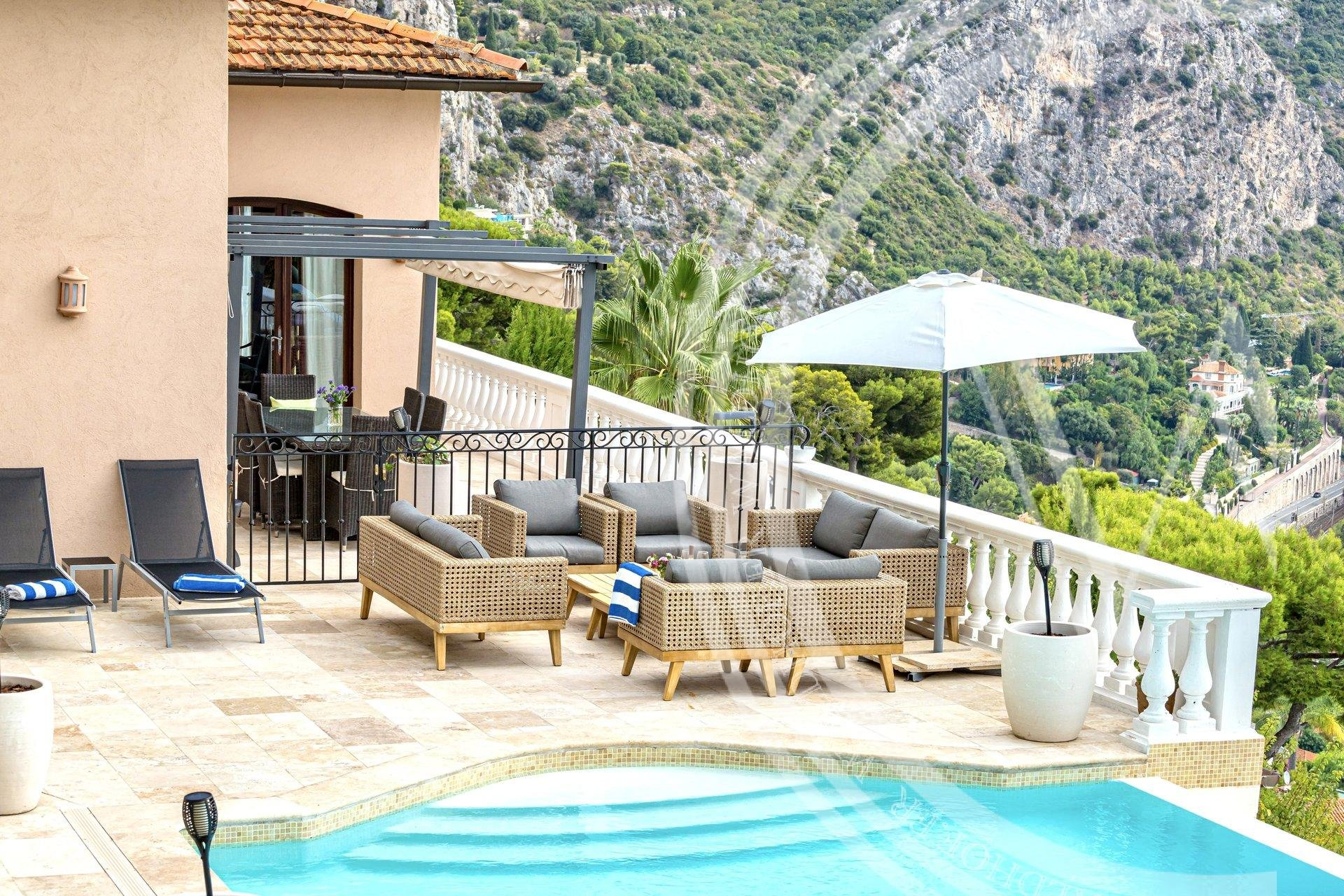 A stylish, contemporary villa with stunning  panoramic views  of the Mediterranean