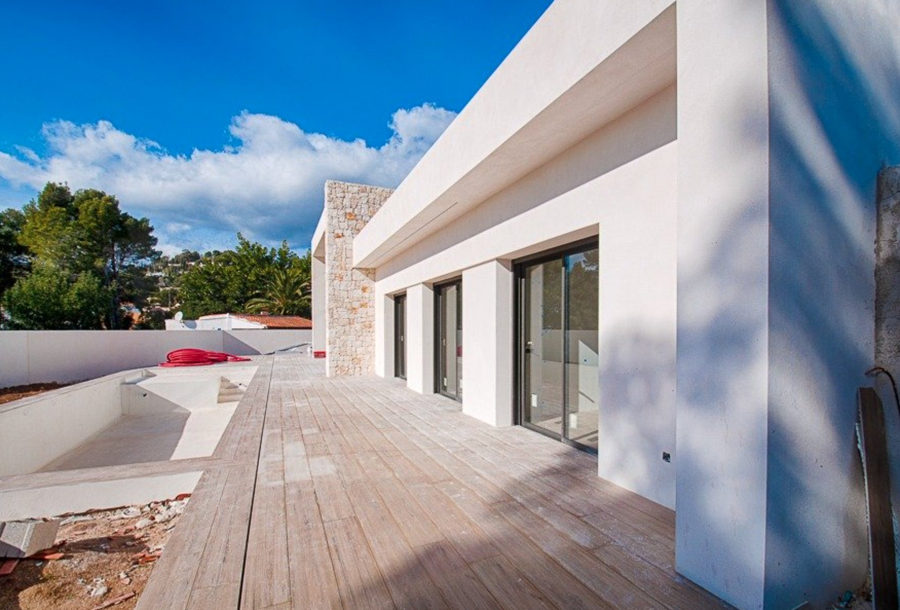 All on one floor modern villa on Benissa coast