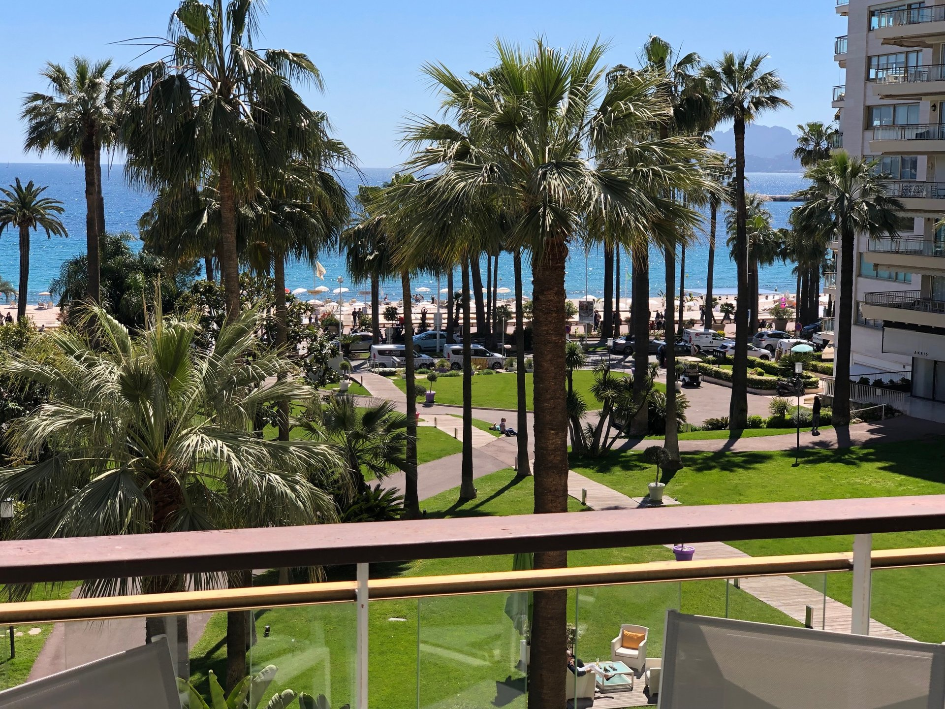 Studio with terrace,  in Le Grand Hotel residence on the Croisette in Cannes