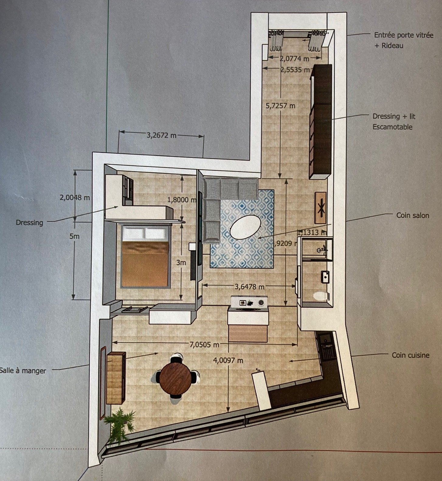 1-BR apartment plan