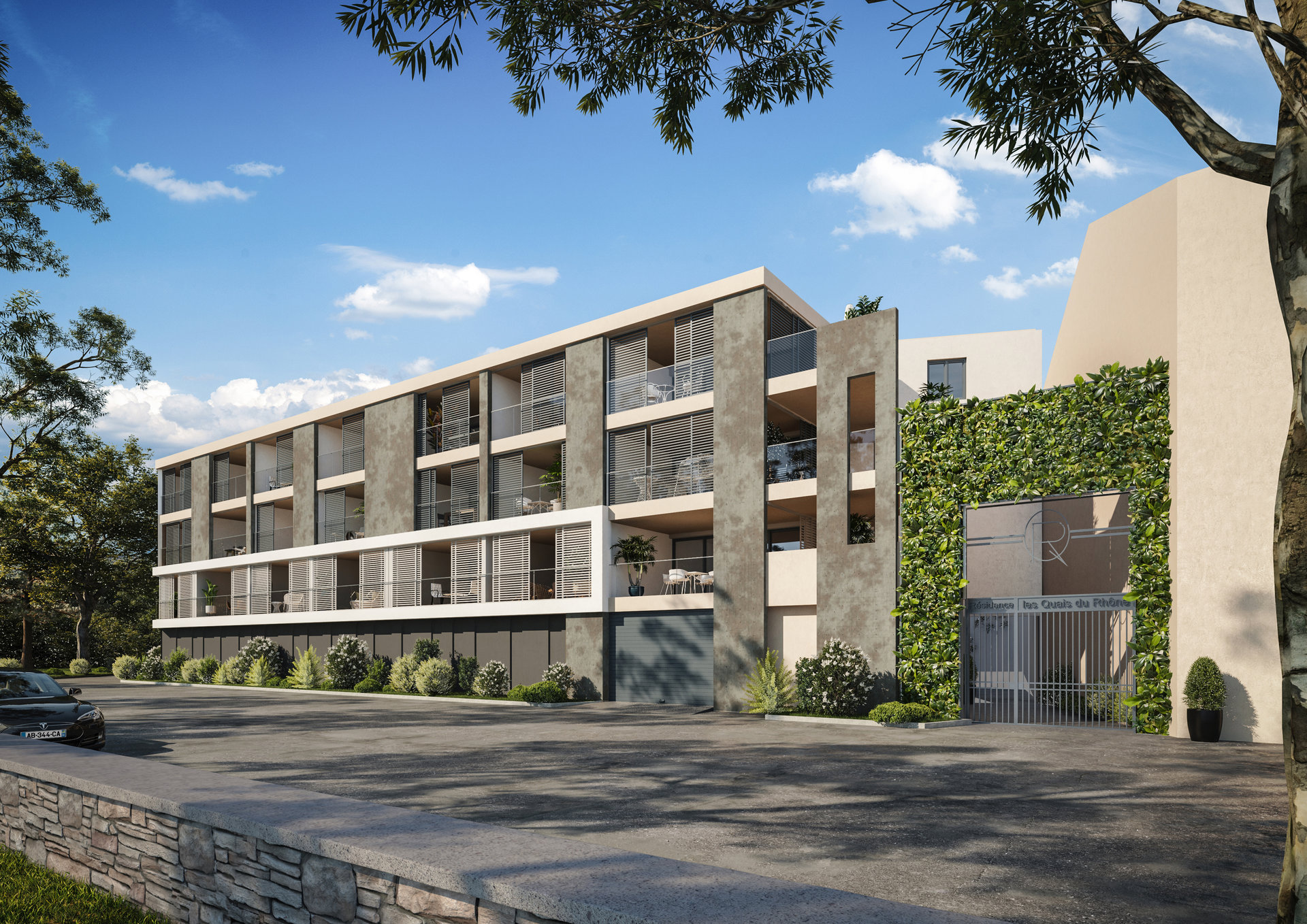 SALE BEFORE COMPLETION - LUXURY FLATS OVERLOOKING THE RHONE