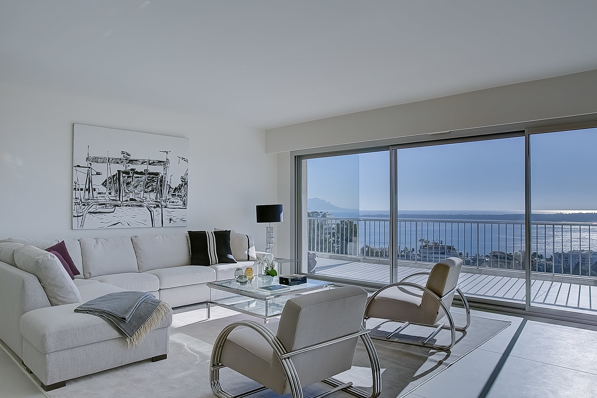 Cannes Californie top floor 4p 158 m2 panoramic sea view