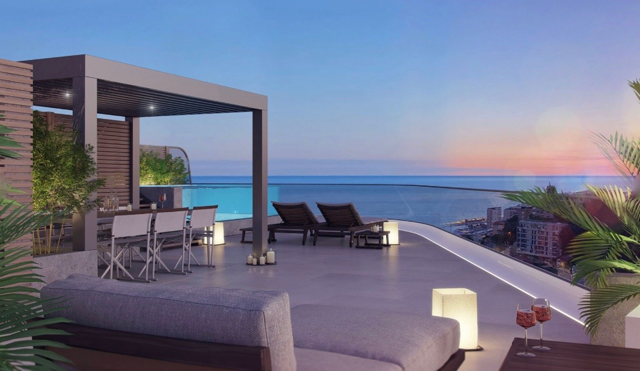 BEAUSOLEIL - French Riviera - Penthouse with panoramic sea view and private pool
