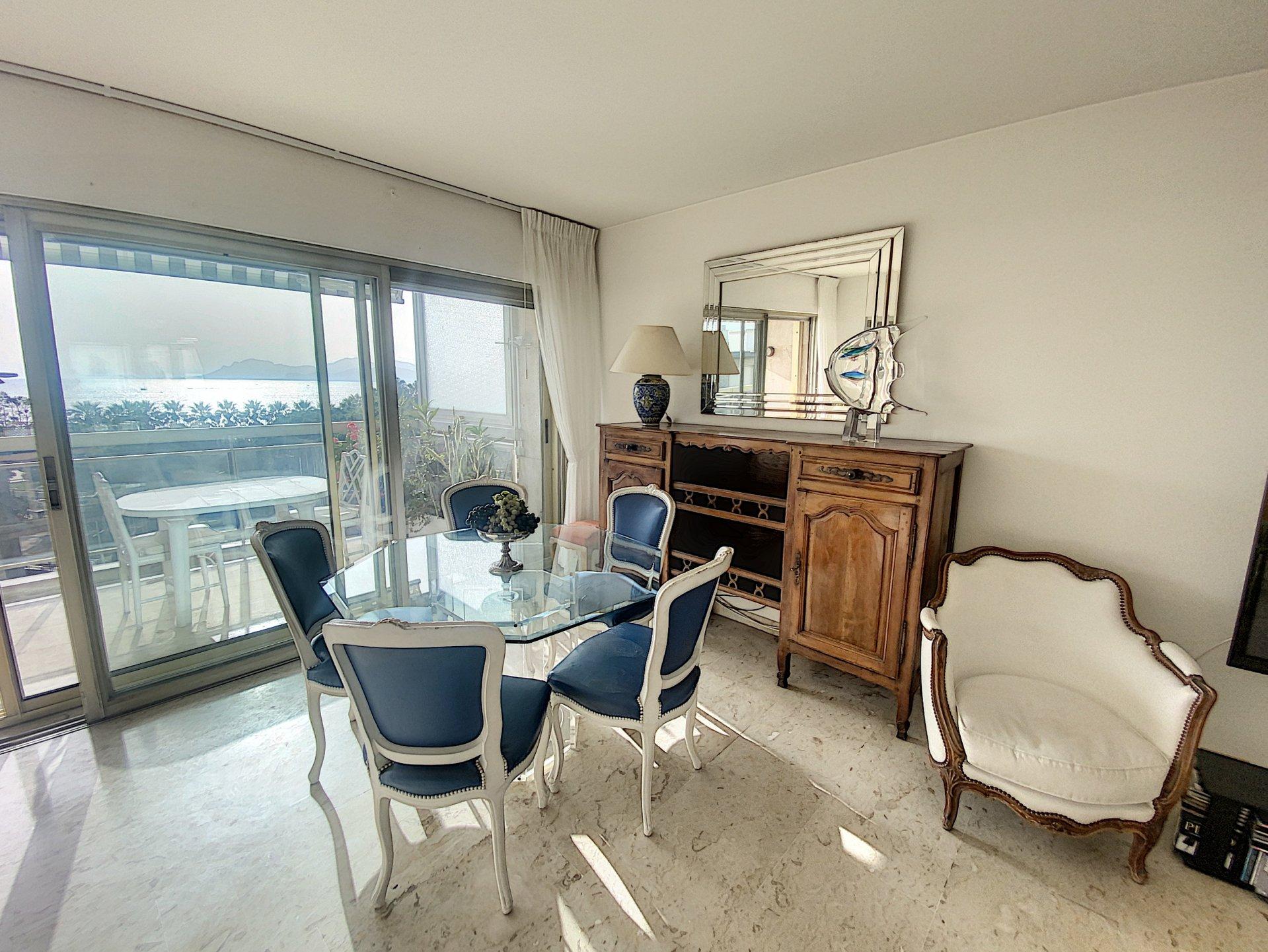 Cannes arrière Croisette 3P 87 m2 vue mer panoramique