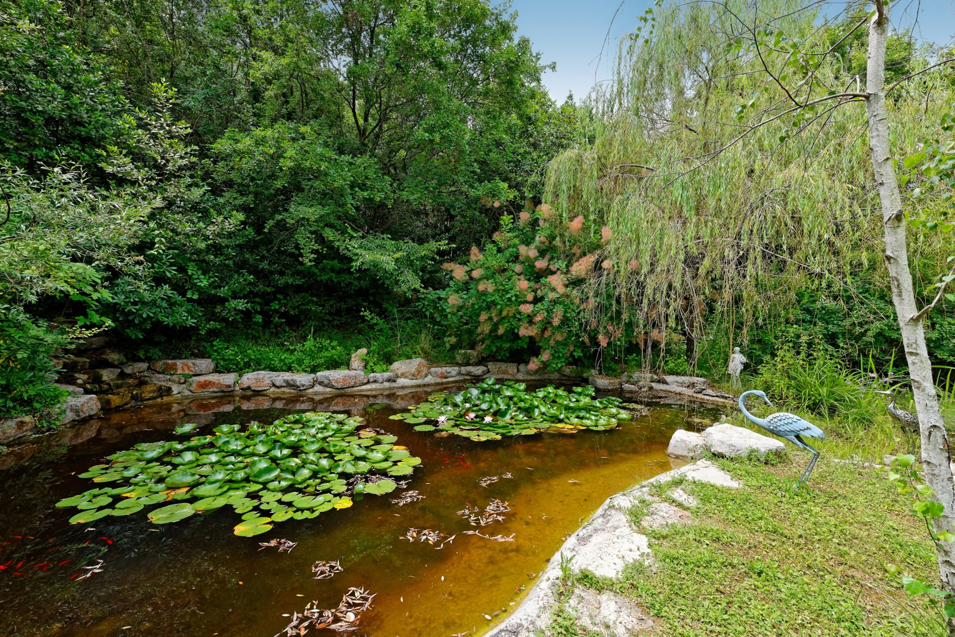 Grasse villa individuelle 500m² étang