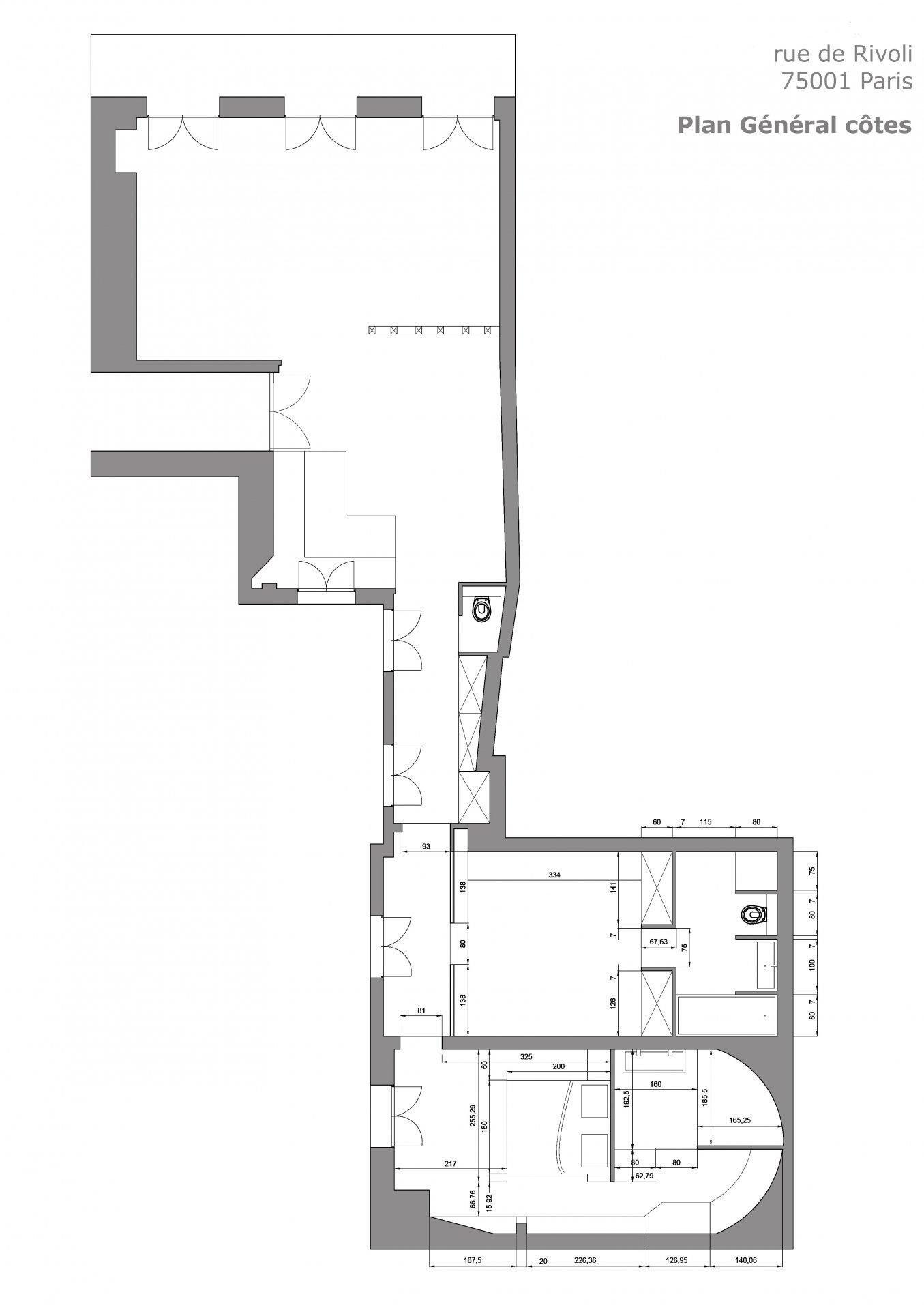 Appartement rénové sur Rue de Rivoli Paris Centre