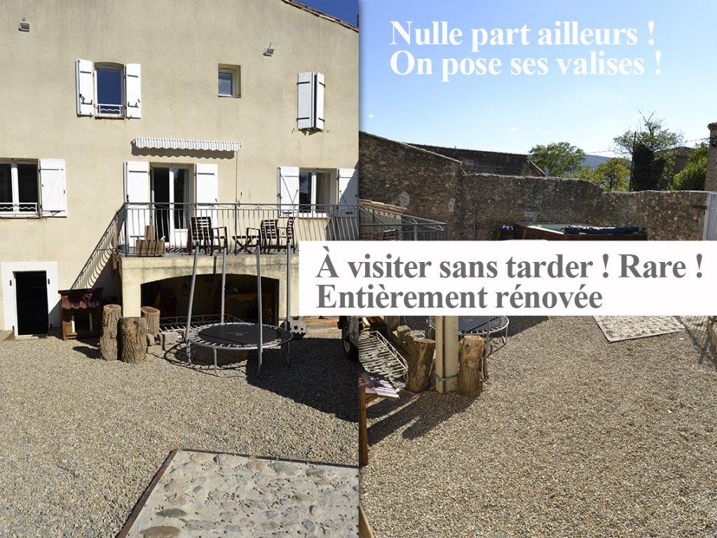 NOUVEAU - Maison en pierres T5 + jardin + piscine + sous-sol au calme